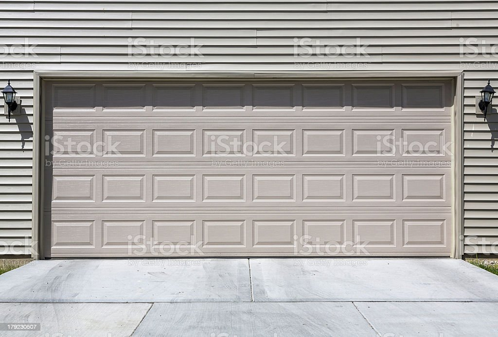 Two car garage royalty-free stock photo