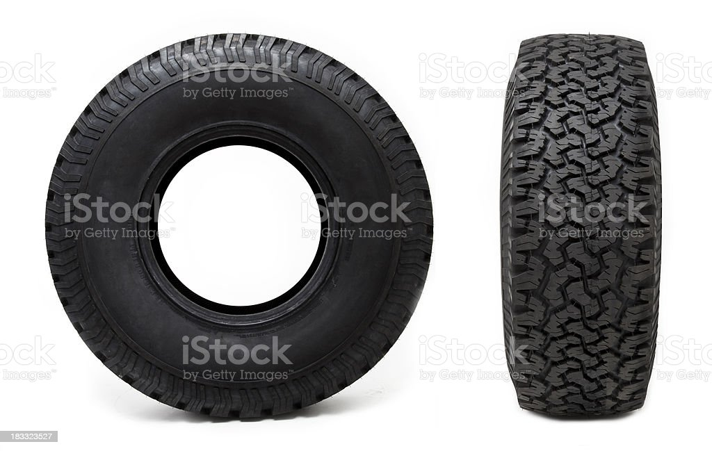 Two Car Tyres stock photo