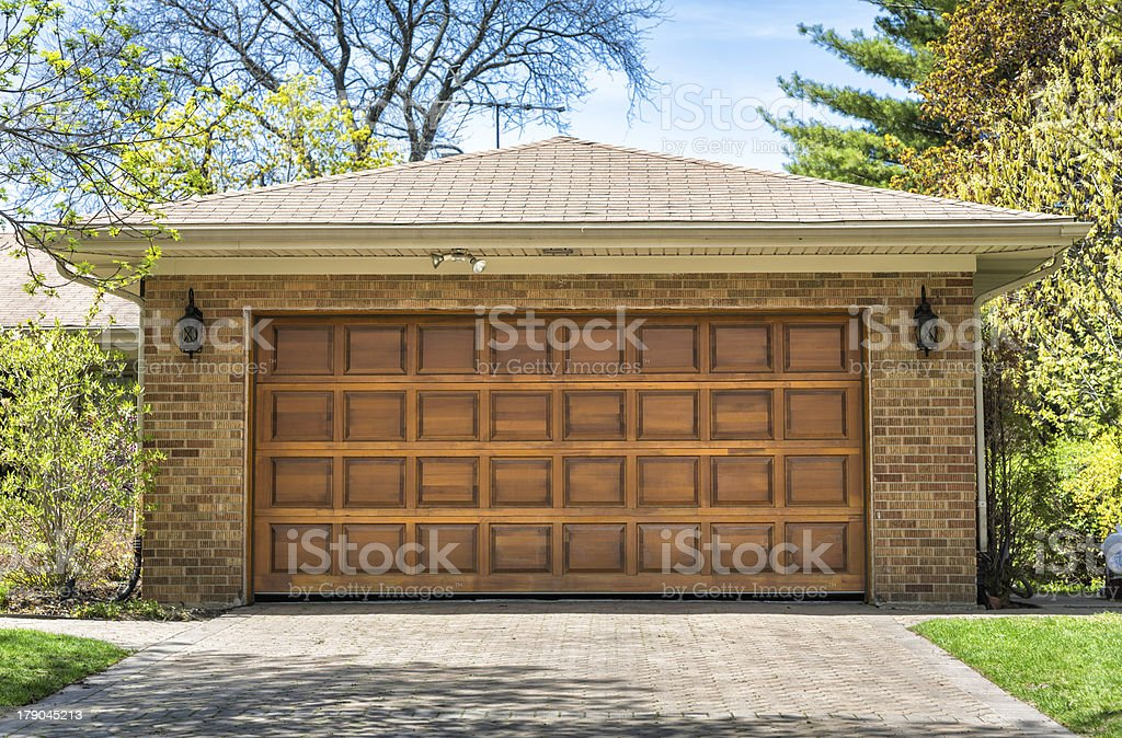 Two car wooden garage royalty-free stock photo