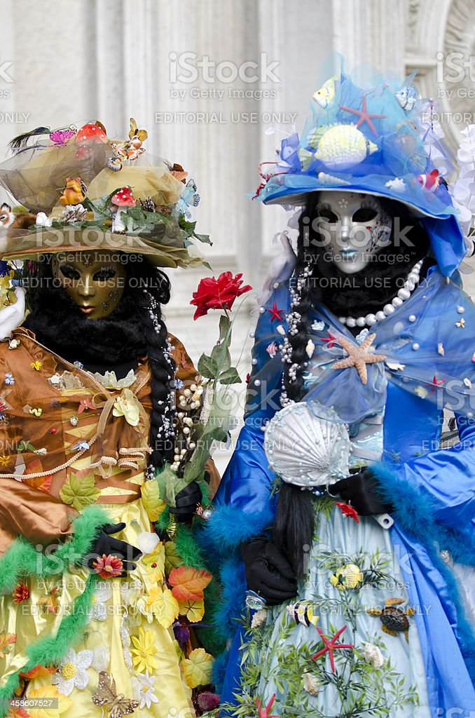 two carnival masks in Venice royalty-free stock photo