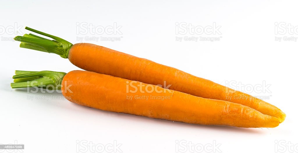 Two carrots stock photo