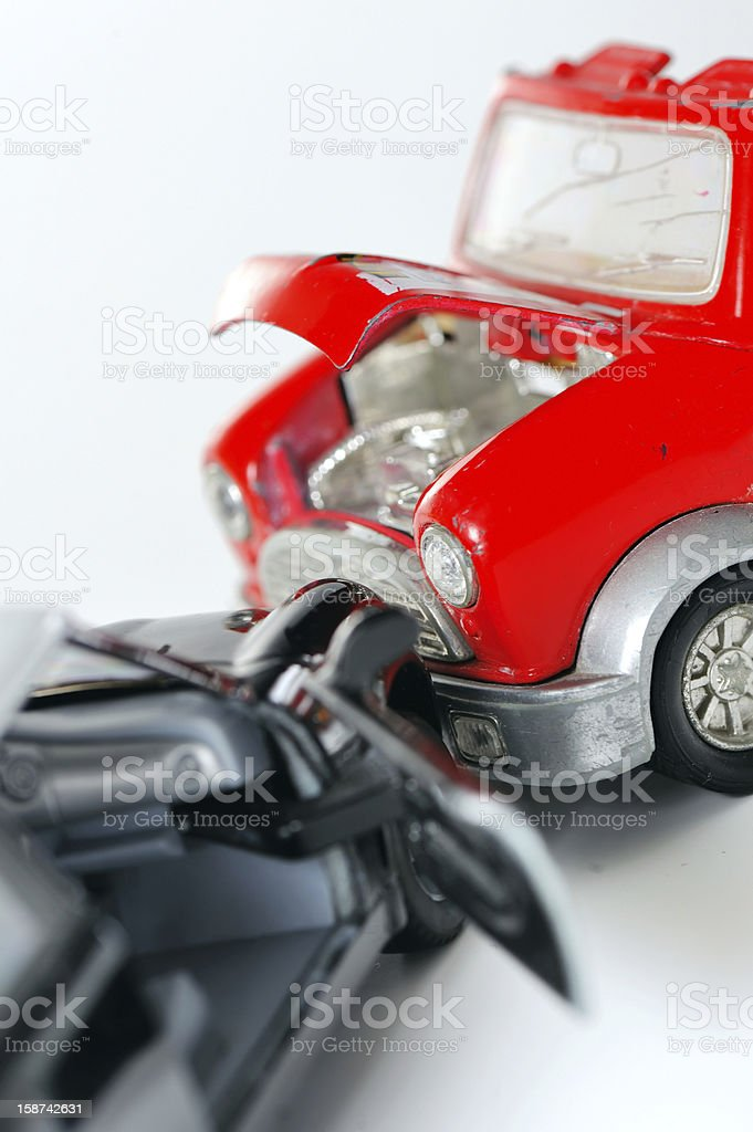 Two cars in an accident royalty-free stock photo