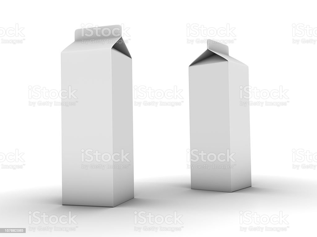 Two Carton Boxes stock photo