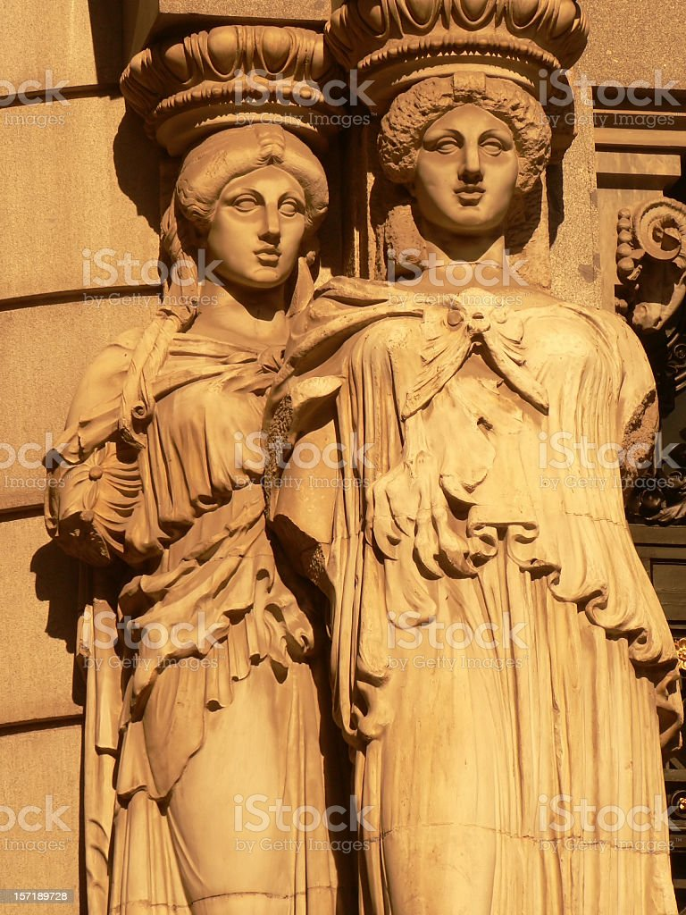 two caryatides royalty-free stock photo