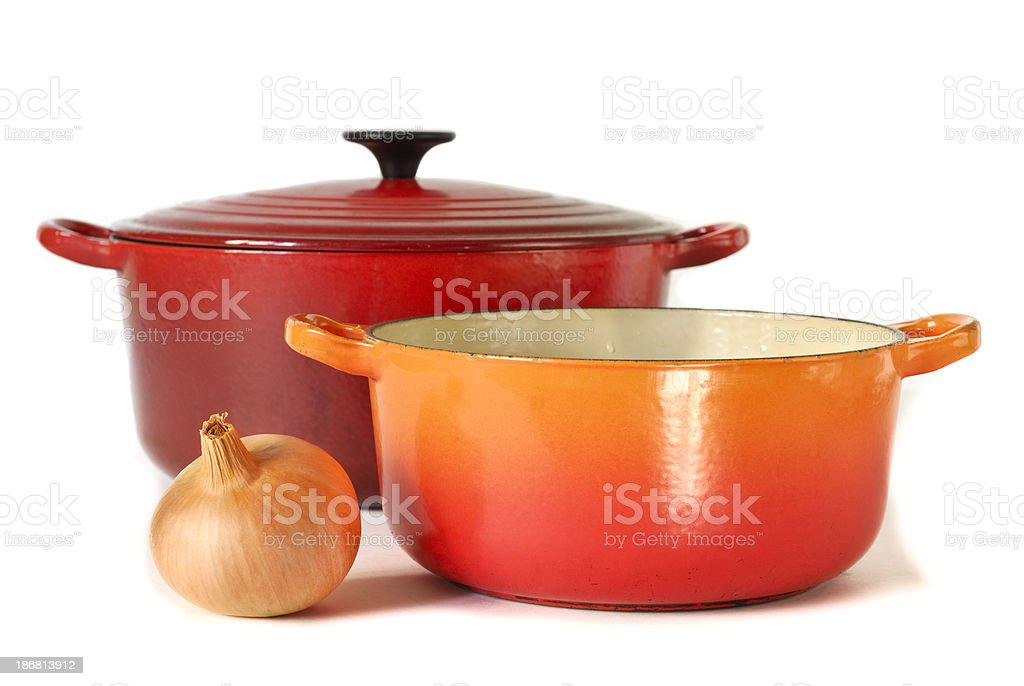 Two Casserole Dishes royalty-free stock photo