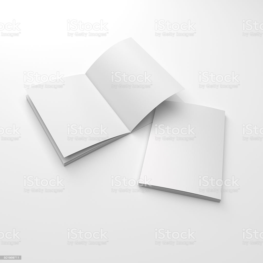 two catalogs composition stock photo