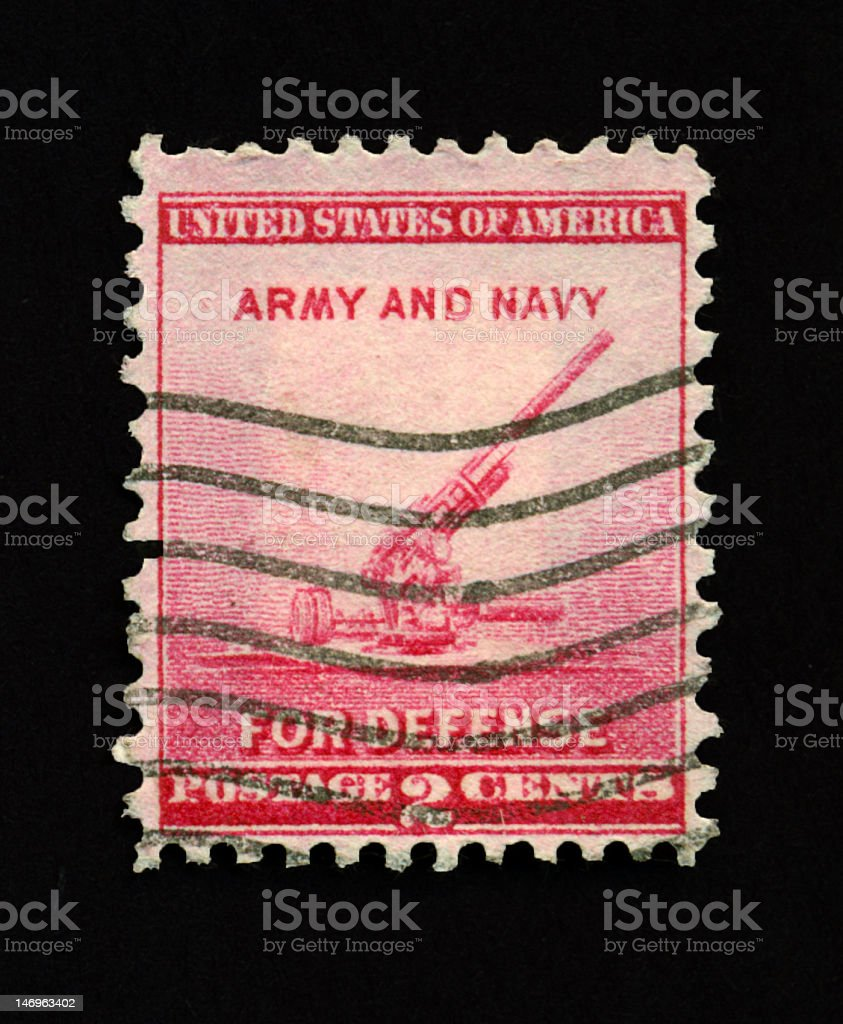 Two Cent Army and Navy Stamp royalty-free stock photo