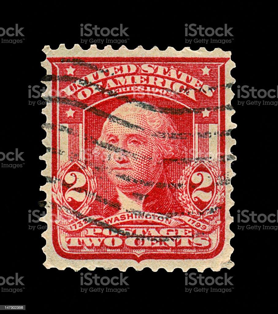 Two Cent Washington Stamp royalty-free stock photo