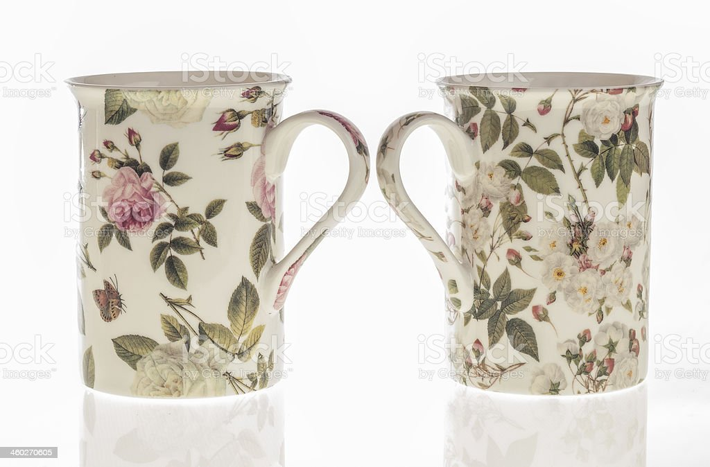 Two ceramic mugs royalty-free stock photo