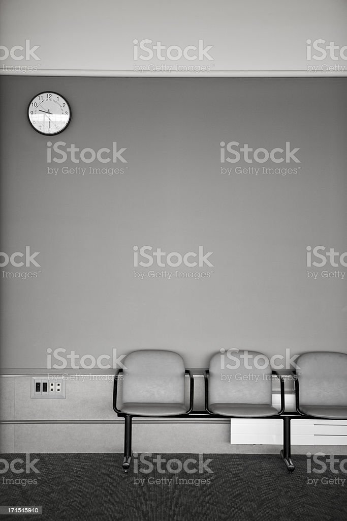 Two chairs in a waiting room royalty-free stock photo