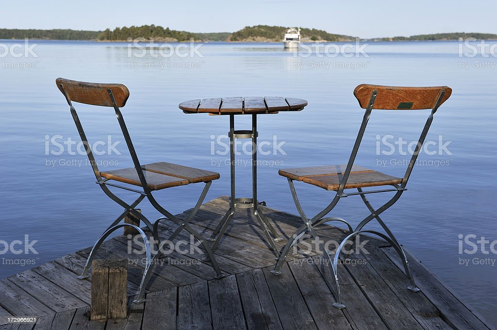 Two chairs royalty-free stock photo