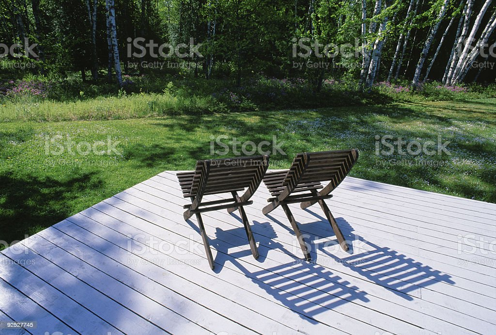 Two Chairs Together royalty-free stock photo