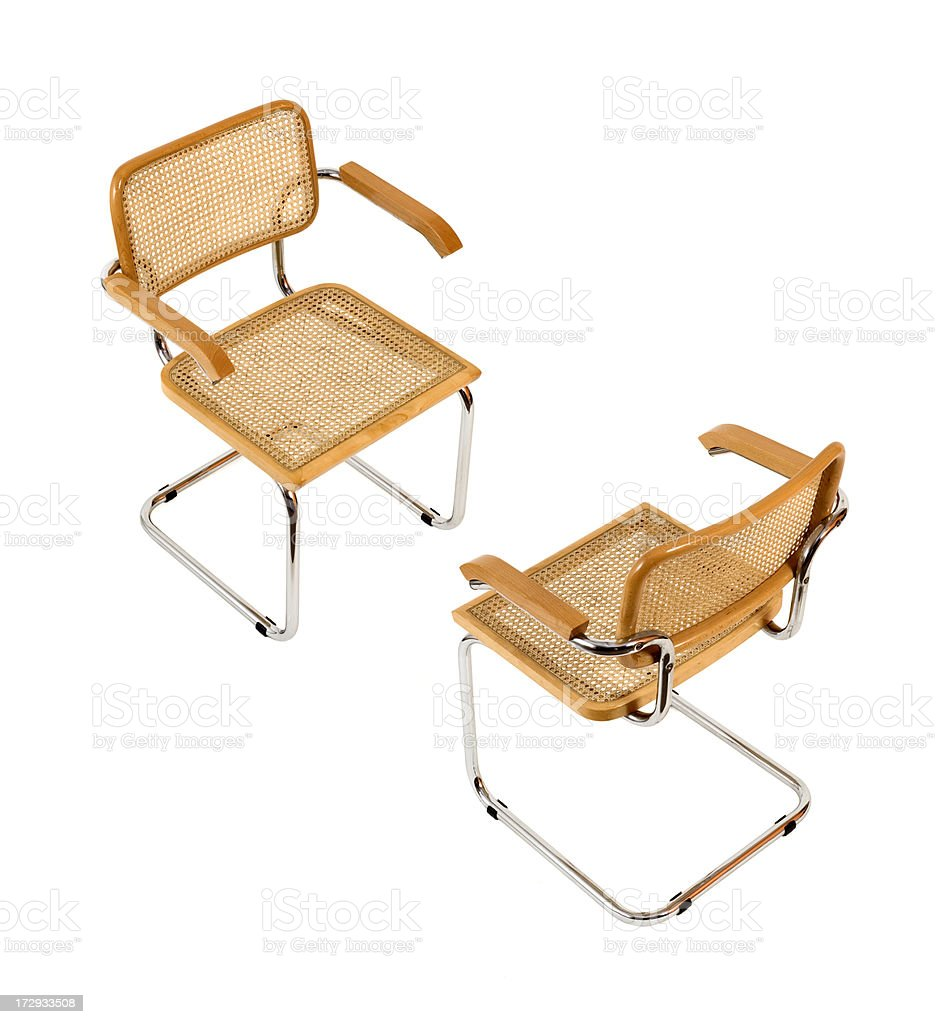 Two chairs with Clipping path stock photo