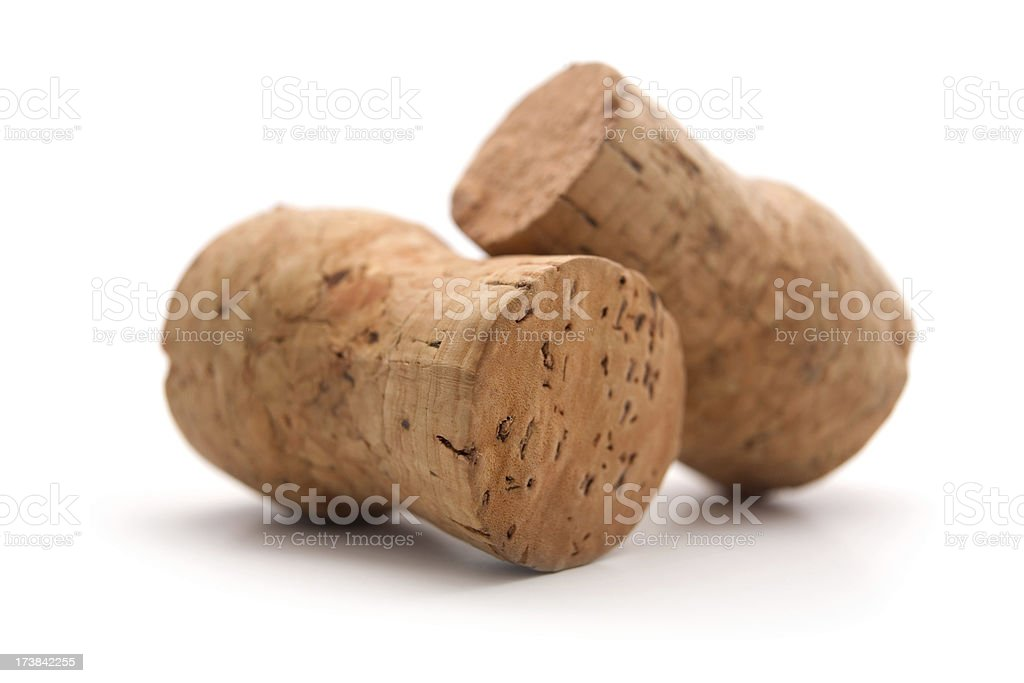 Two Champagne cork (serie of images) royalty-free stock photo