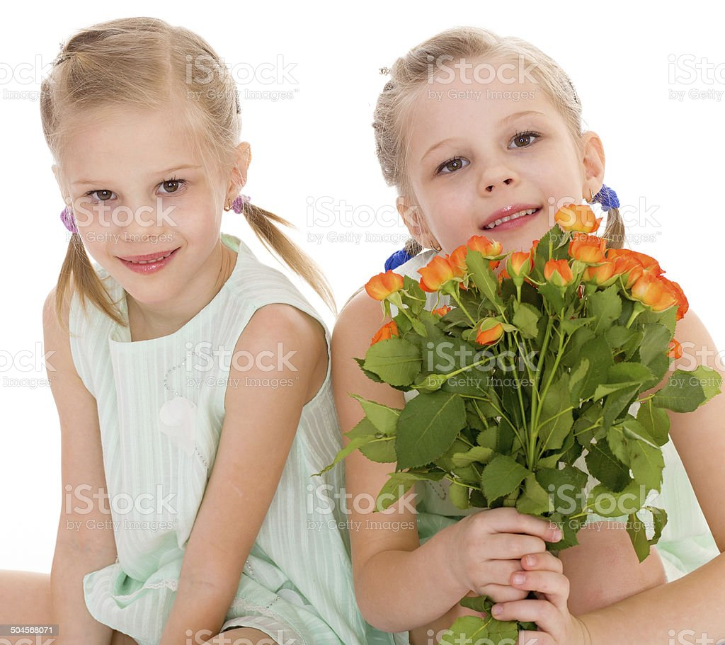 Deux de charmantes petites filles photo libre de droits