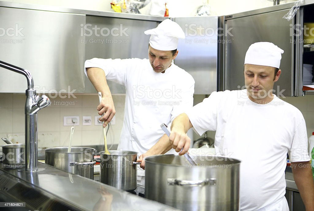 Two chefs at work. royalty-free stock photo