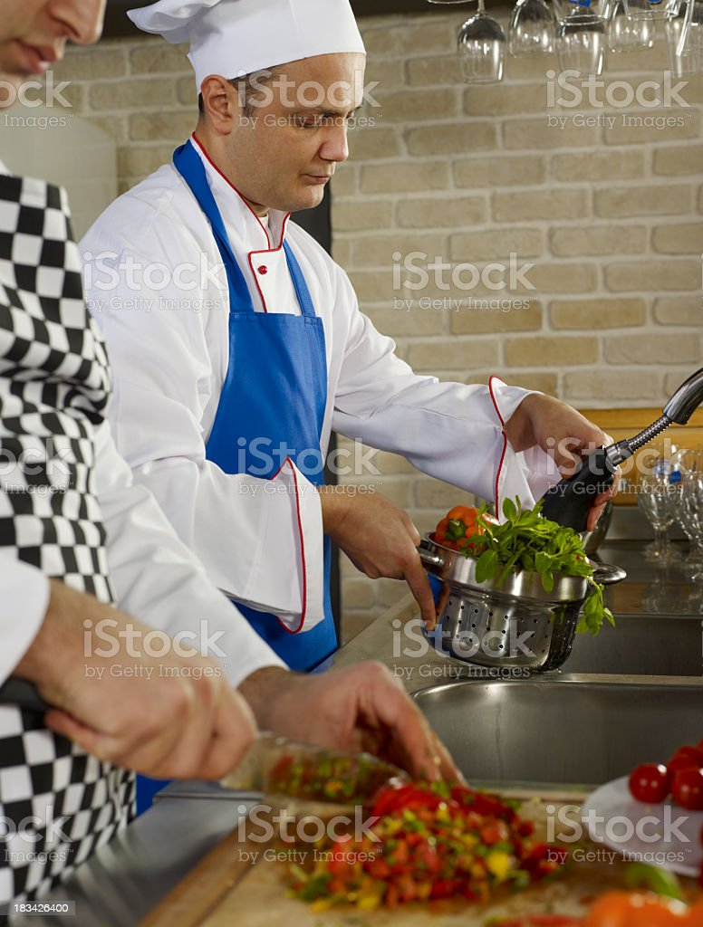 Two Chefs royalty-free stock photo