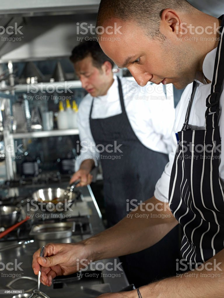 Two Chefs stock photo