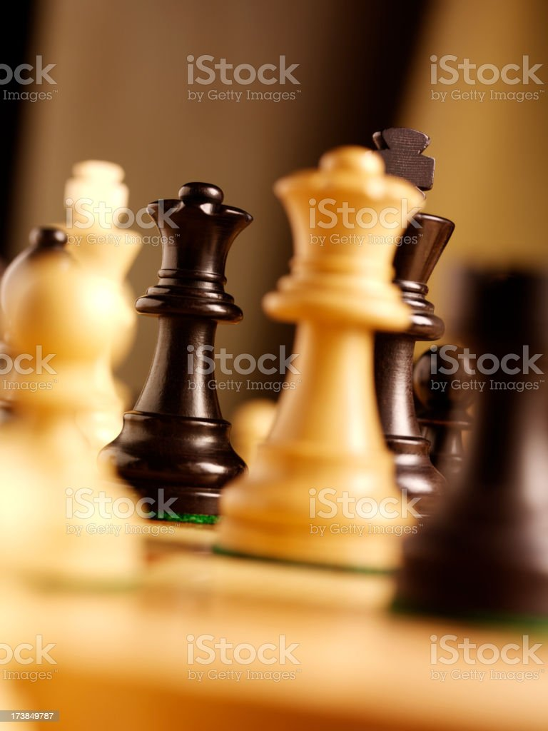Two Chess Queens in a Game royalty-free stock photo