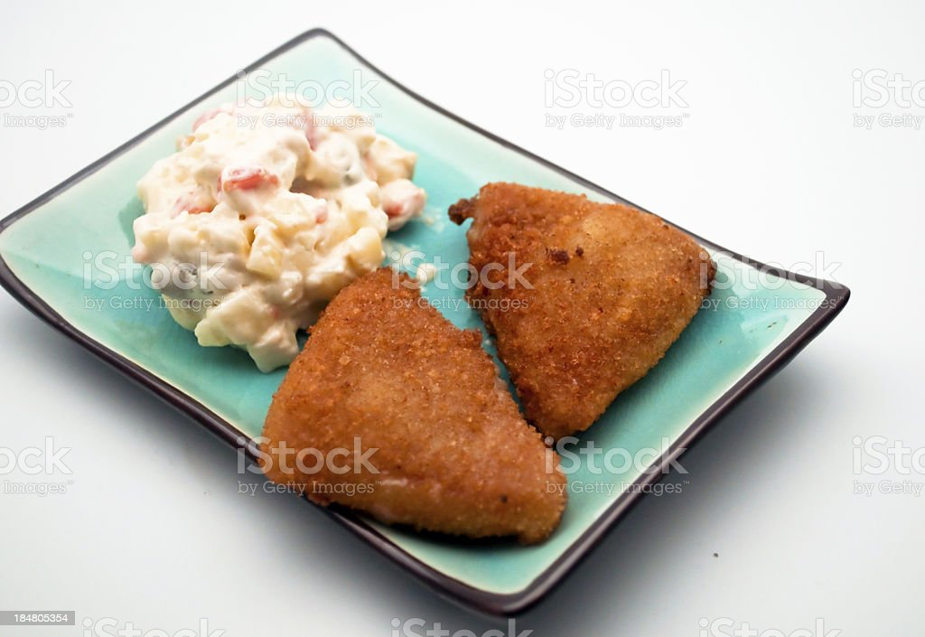 Two chicken fillets royalty-free stock photo