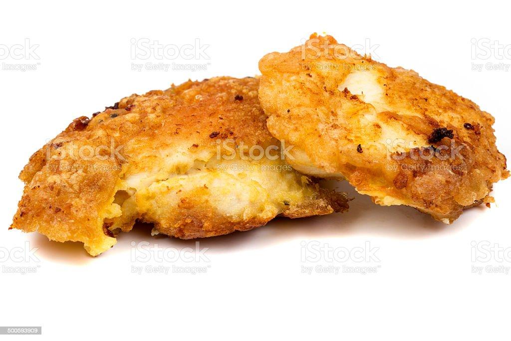 Two chicken schnitzel stock photo