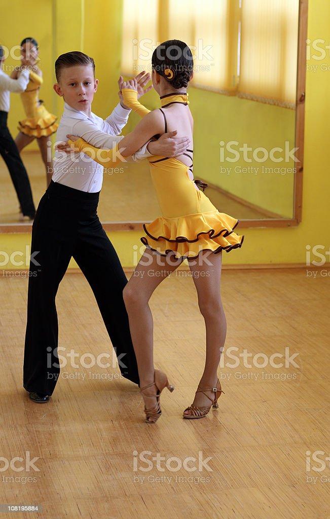 Two Children Ballroom Dancing royalty-free stock photo