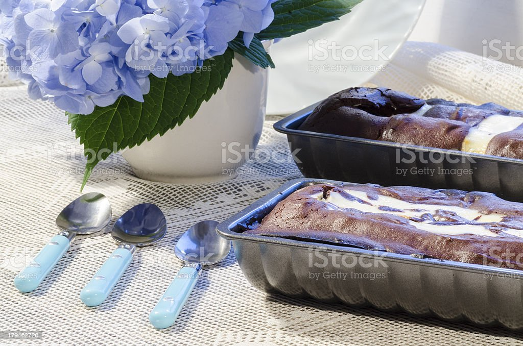 Two chocolate cake in a baking dish royalty-free stock photo