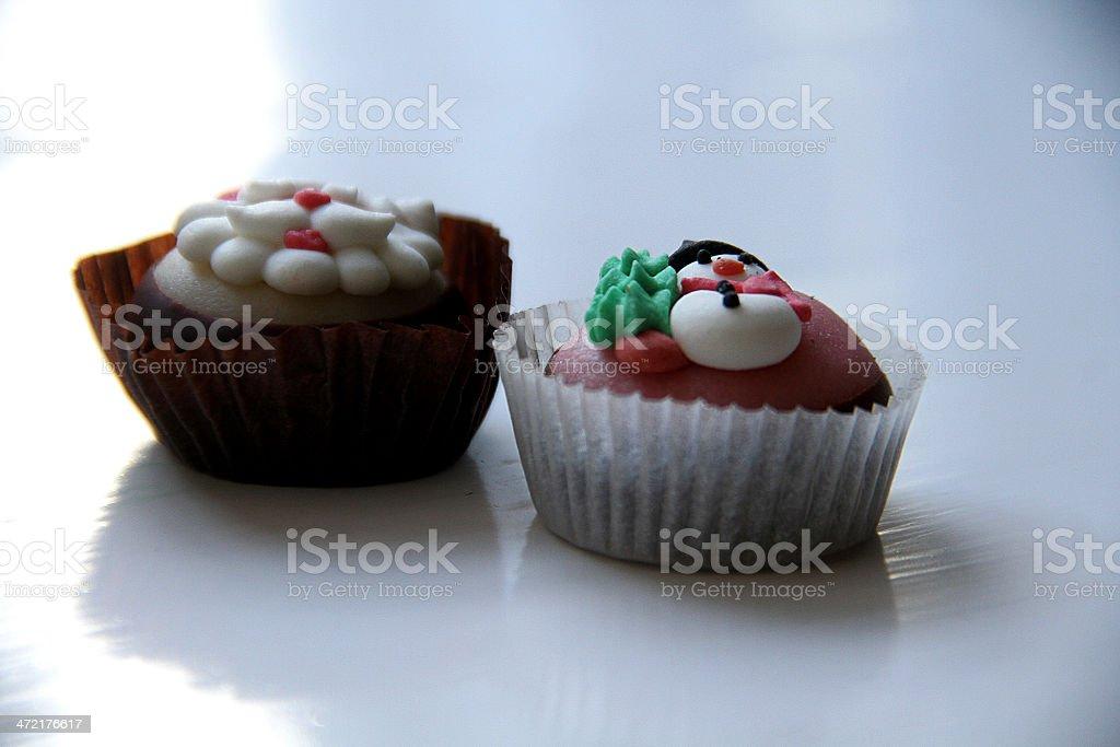 Due Natale dessert al cioccolato foto stock royalty-free