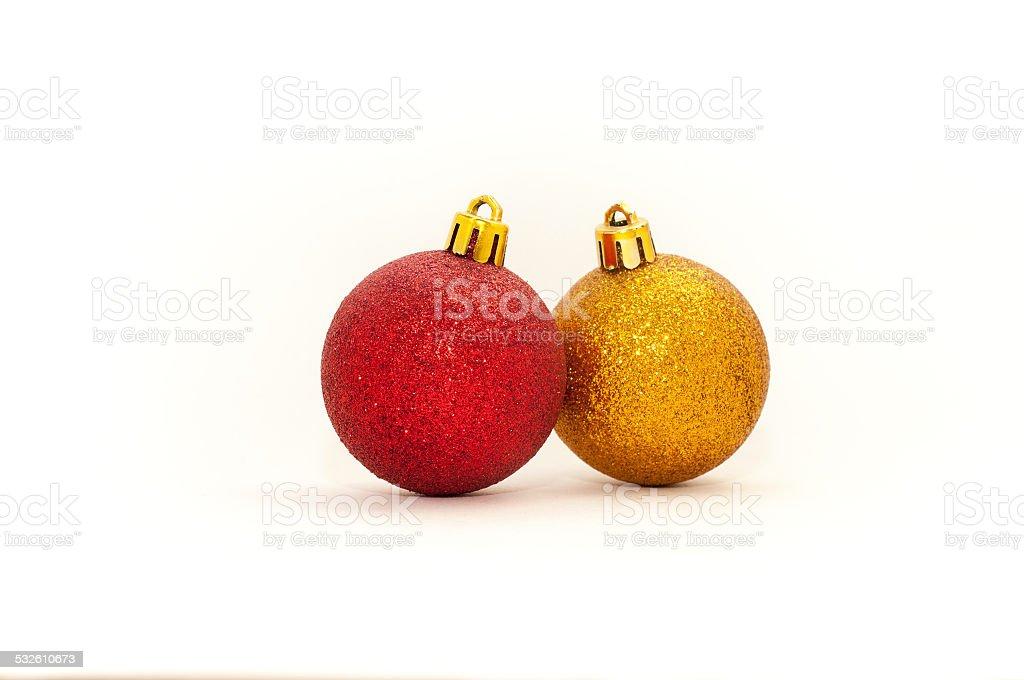 Dos decoración de Navidad aislado sobre un fondo blanco foto de stock libre de derechos