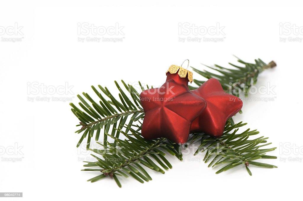 Two Christmas Stars royalty-free stock photo