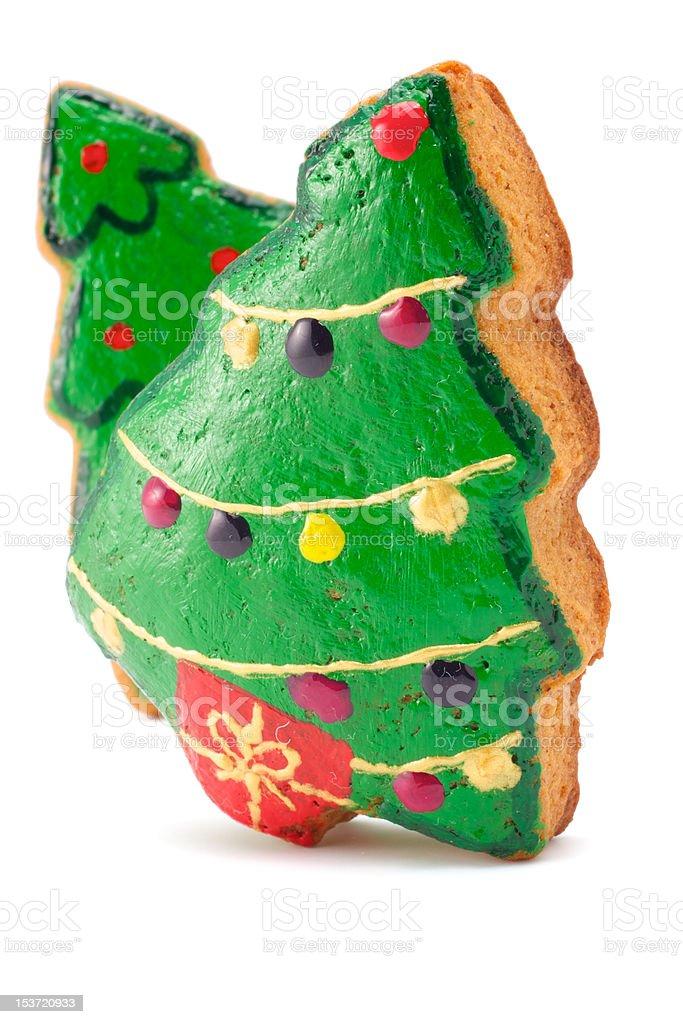 Two christmas tree royalty-free stock photo