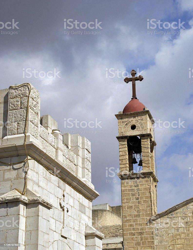 Two Churches Nazareth Israel royalty-free stock photo