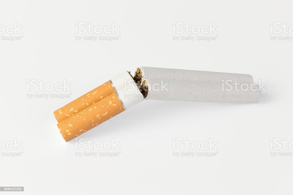 two cigarettes in a shotgun stock photo
