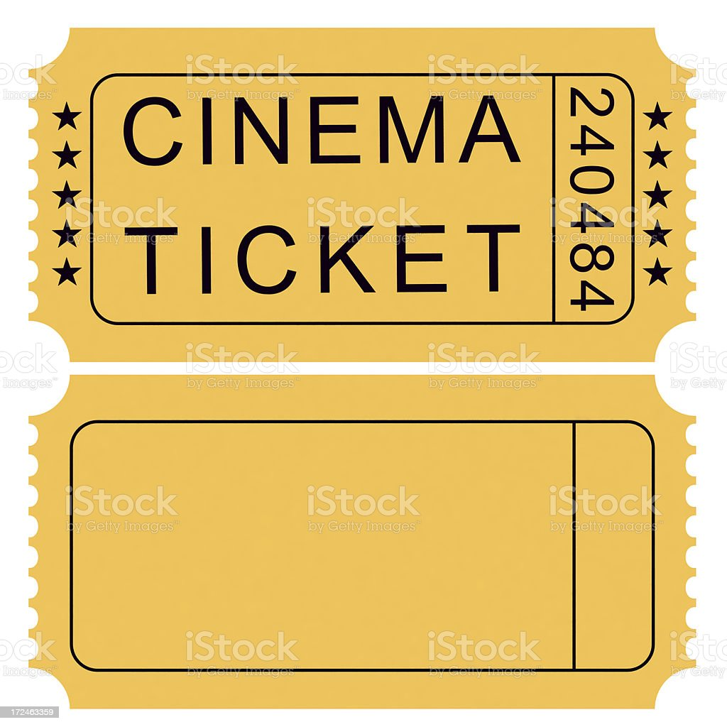 Two Cinema Tickets stock photo