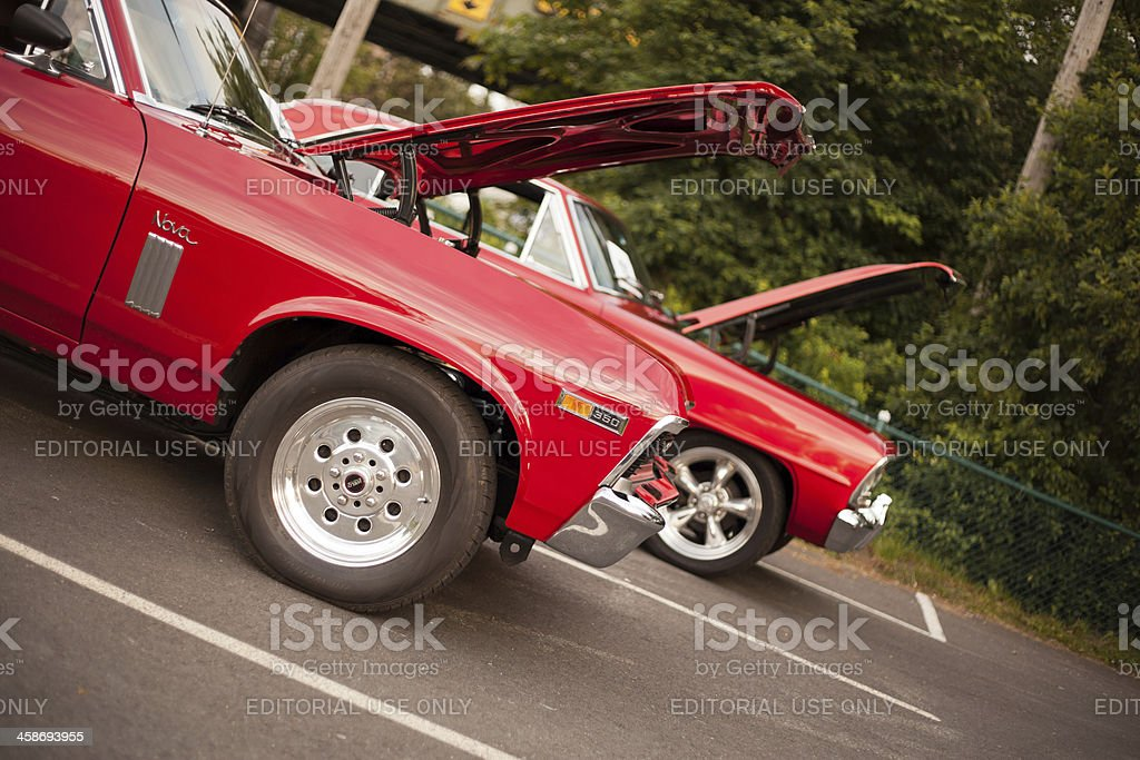 Two Classic Chevrolet Novas stock photo