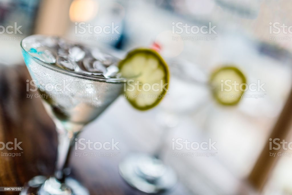 Two classic martinis stock photo