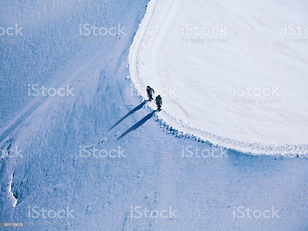 two climbers stock photo