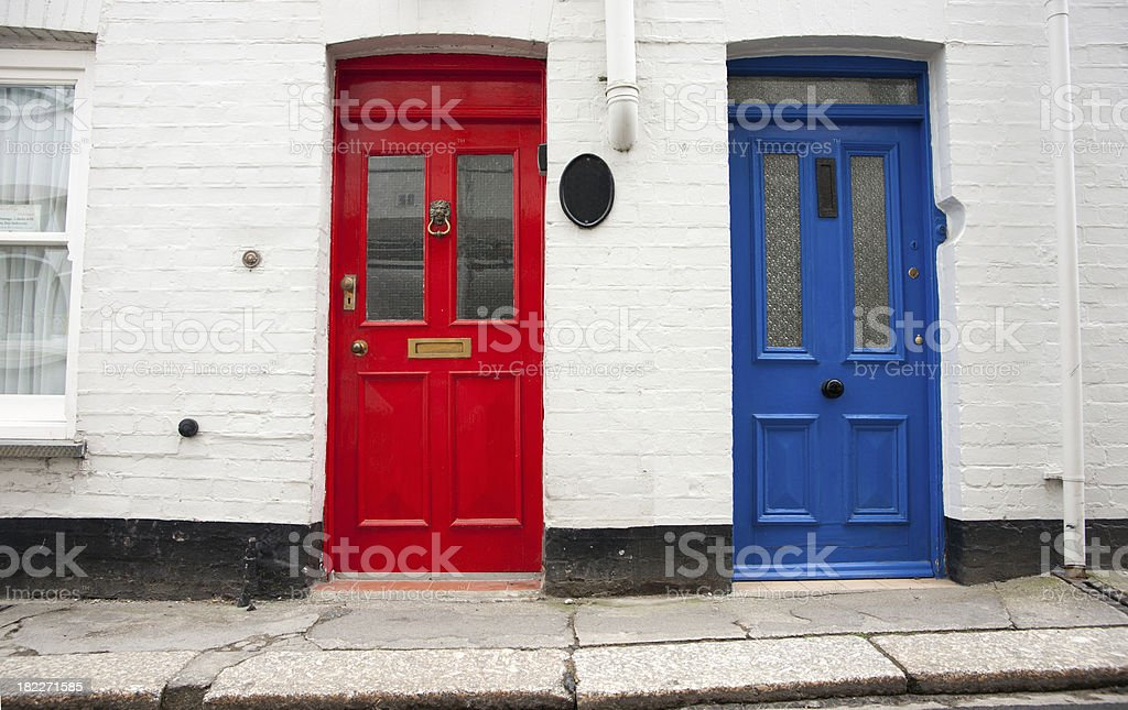 Two closed doors. stock photo