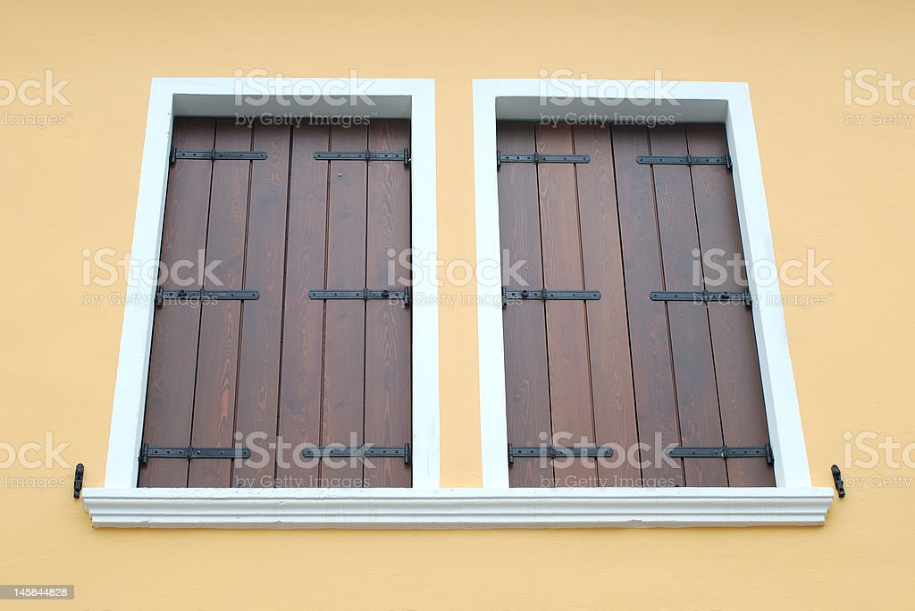 Two closed windows royalty-free stock photo
