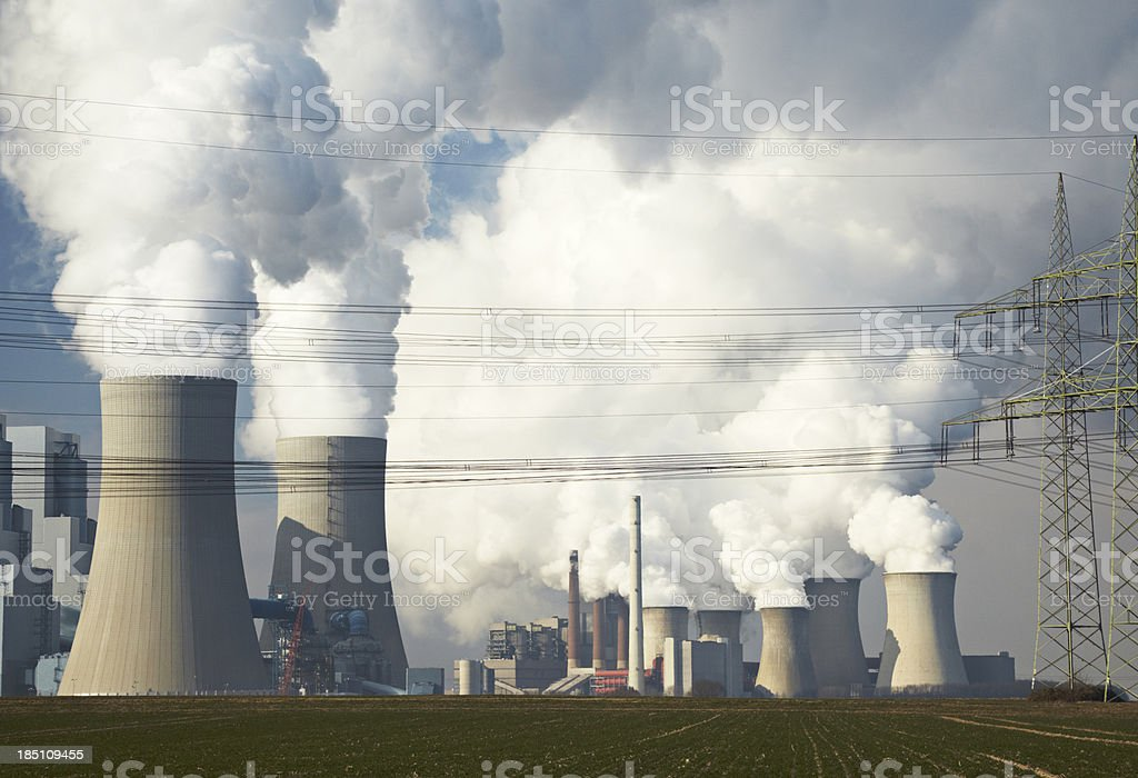 Two Coal-fired Power Station stock photo