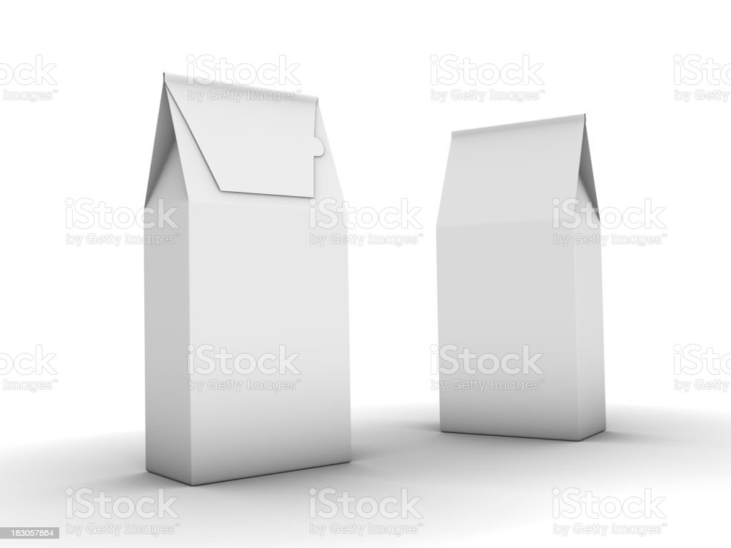 two cofee packages royalty-free stock photo
