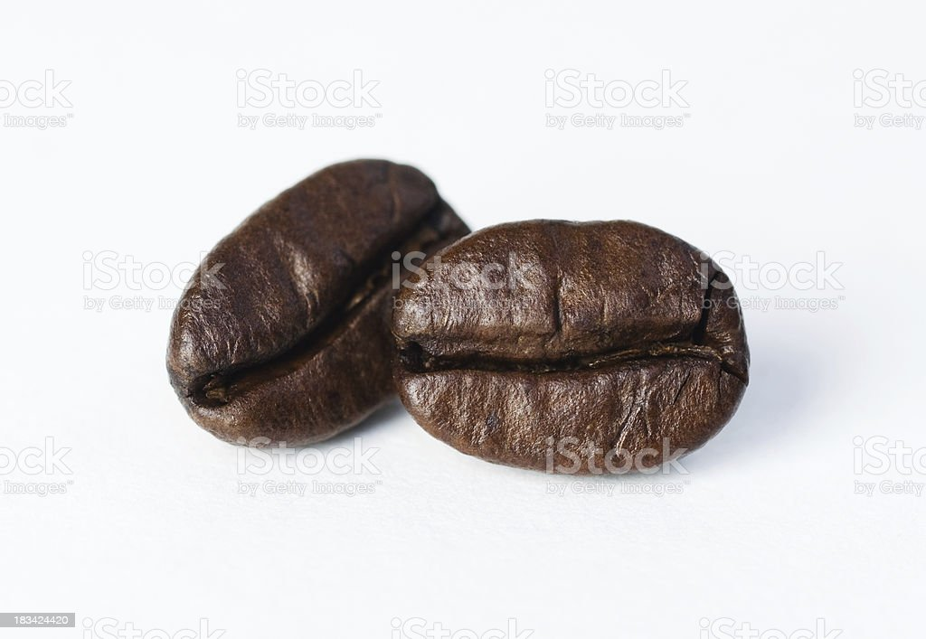 Two Coffee Beans royalty-free stock photo