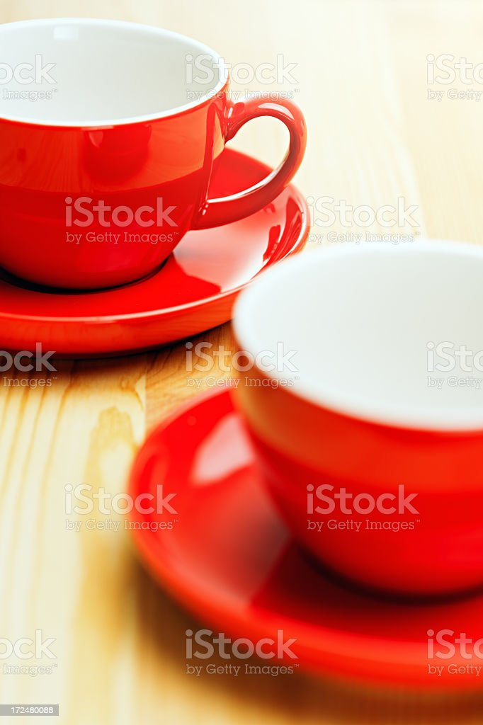 Two coffee cups royalty-free stock photo