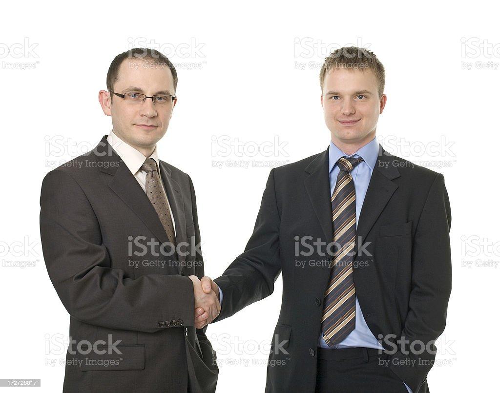 two cofidence businessmen royalty-free stock photo