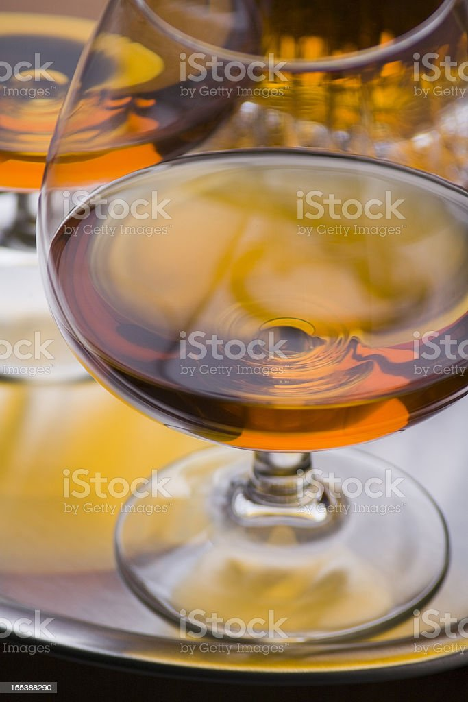 Two Cognac glasses stock photo