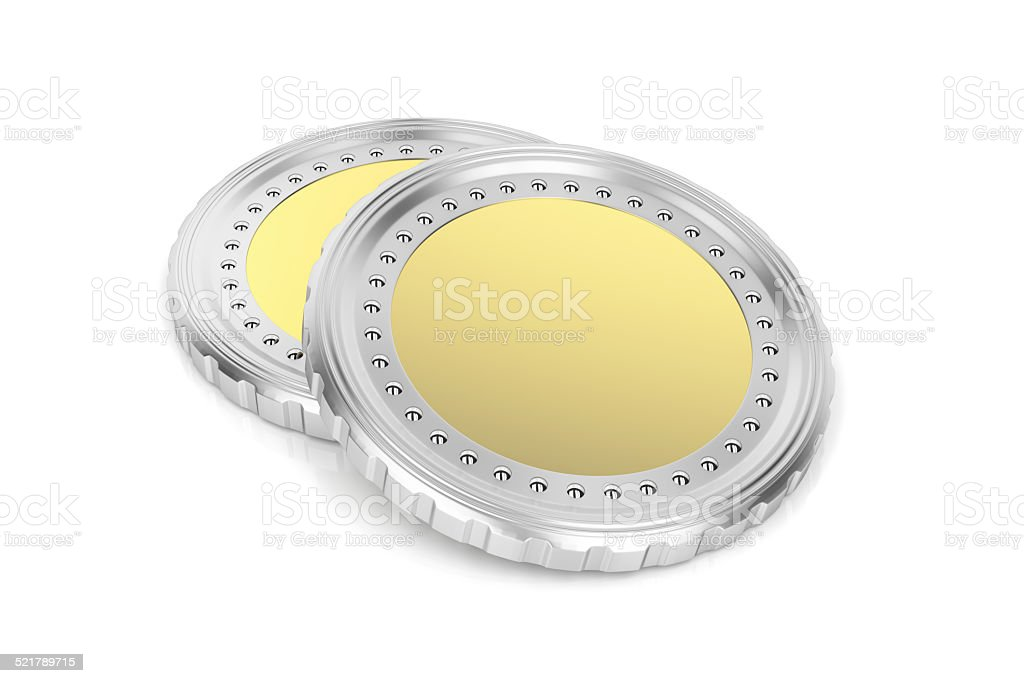 Two coins stock photo