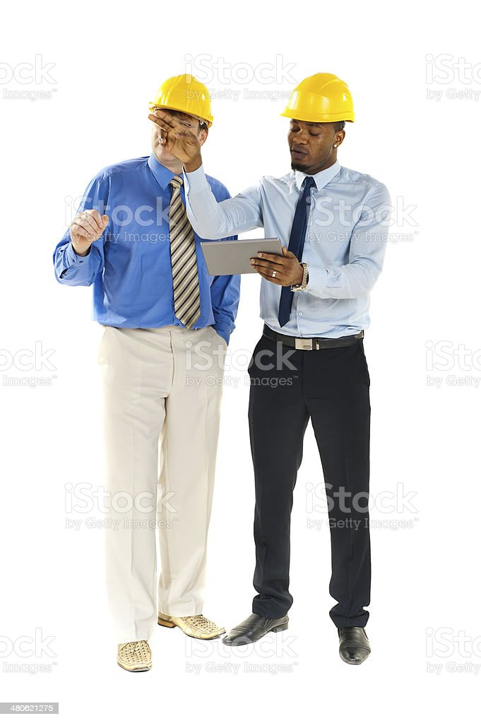 Two colleagues working together royalty-free stock photo