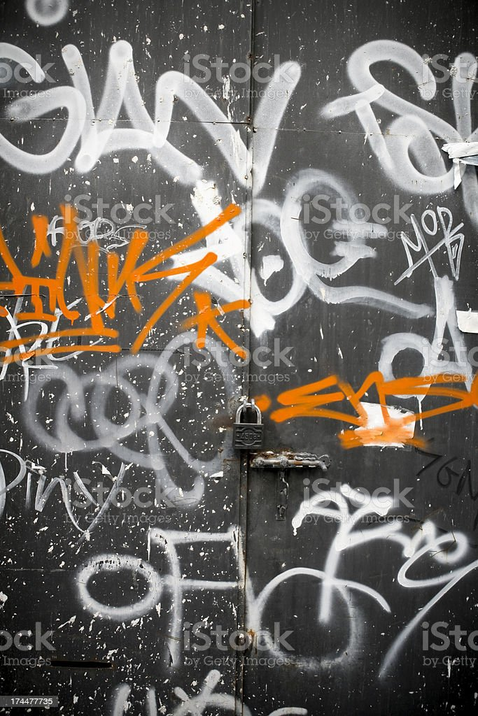 Two color graffiti royalty-free stock photo