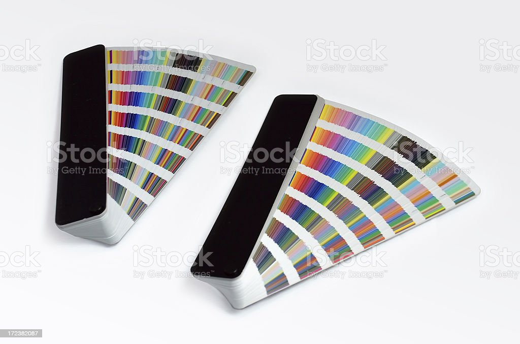 Two color guide fan royalty-free stock photo