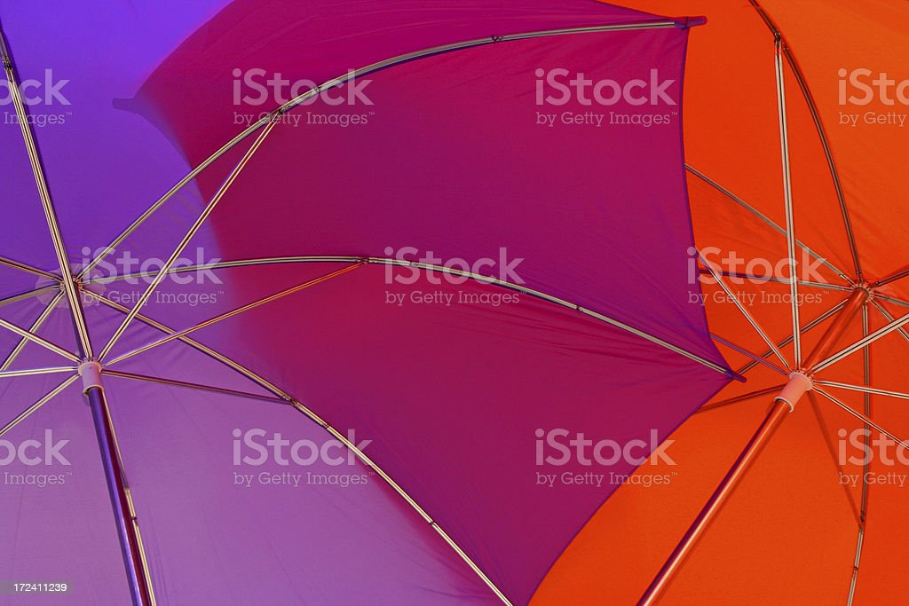 Two colored umbrella's # 3 royalty-free stock photo